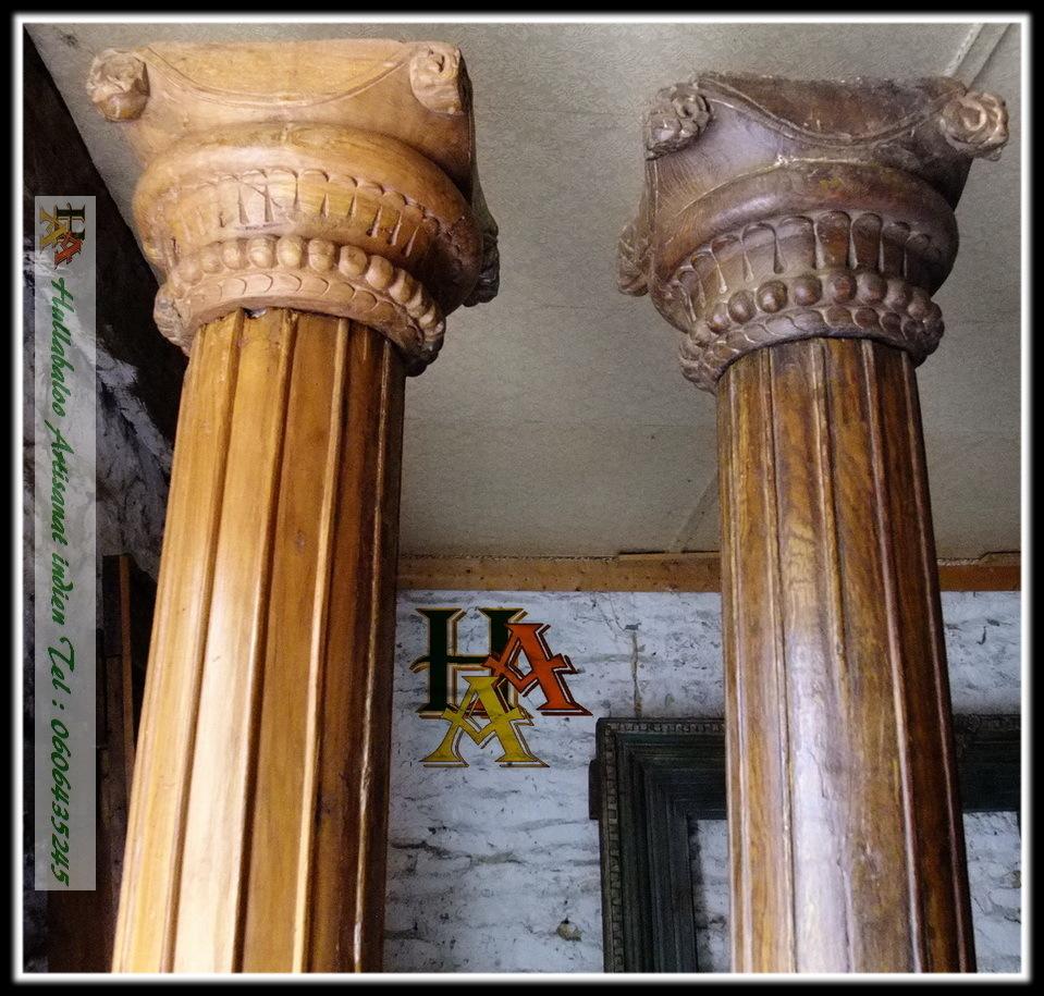 Anciens Piliers Code 031 D 233 Coration Indienne Meubles Indiens