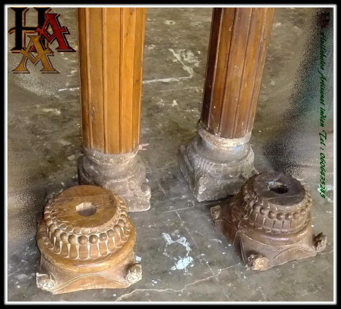 Anciens piliers code 031 d coration indienne meubles for Colonne en platre pour decoration interieure