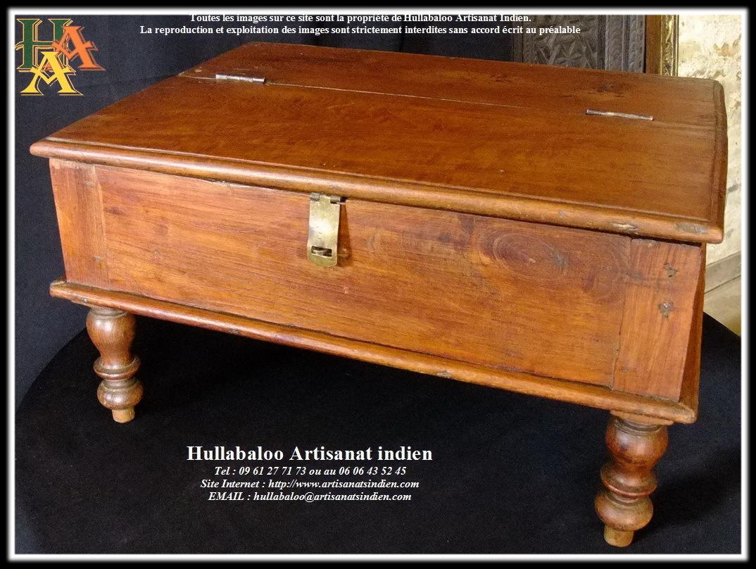 table basse ancien critoire indien code 039