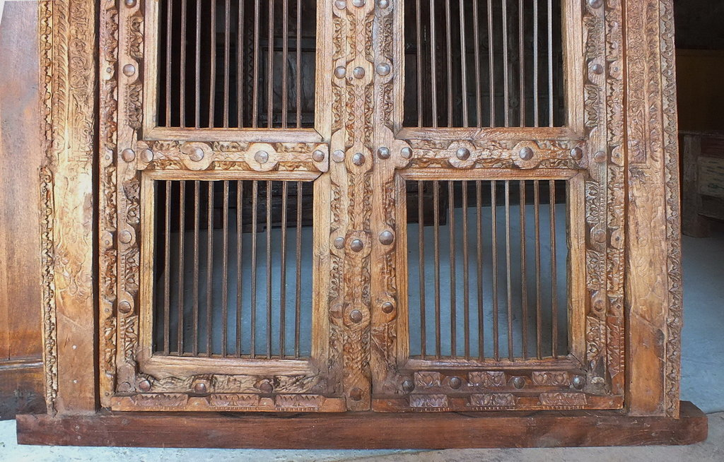 Porte indienne ancienne jali jn4 sa35 meubles d coration for Decoration porte indienne