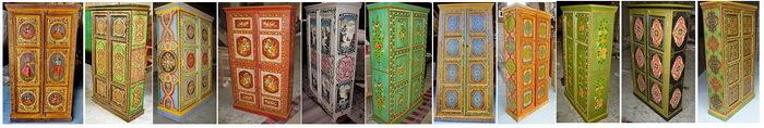Meubles peints meubles indiens artisanat asie - Meubles indiens peints ...