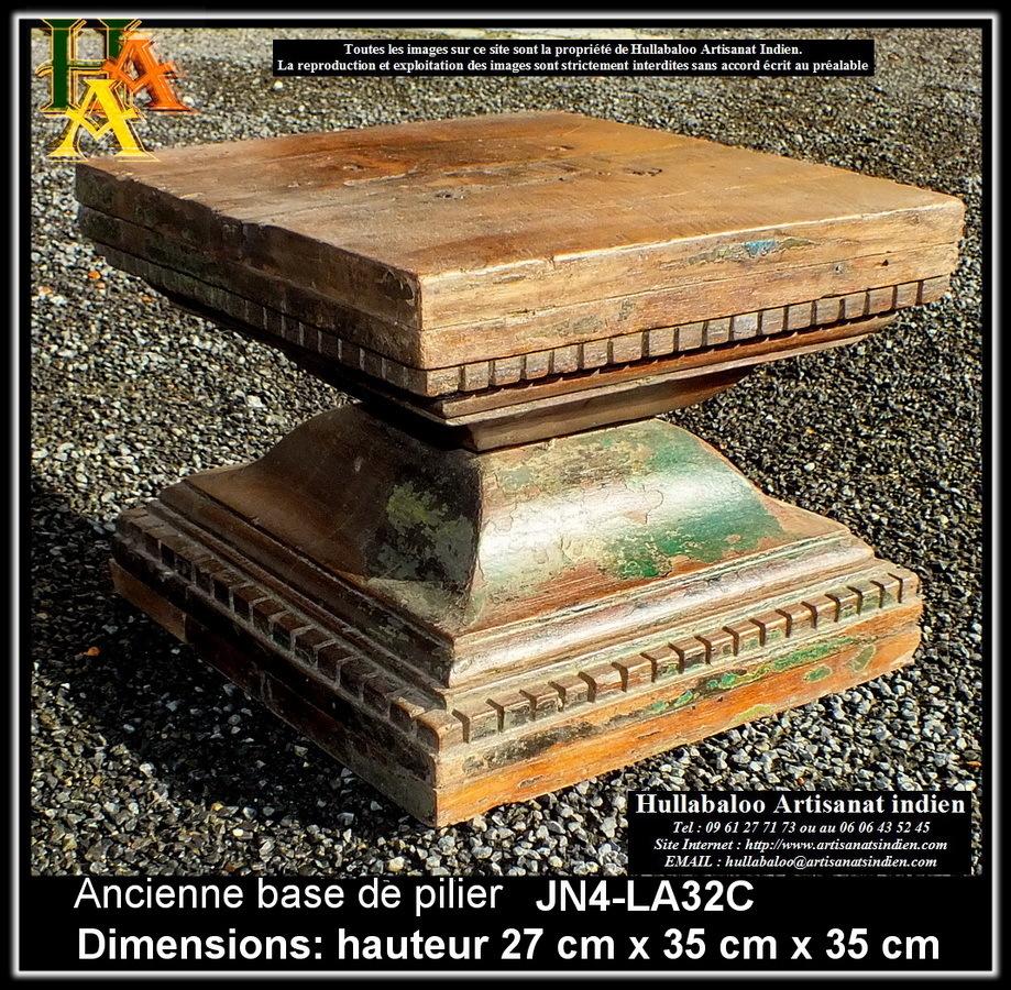 Ancienne base de pilier jn4 la32c meubles indiens Architecture ancienne