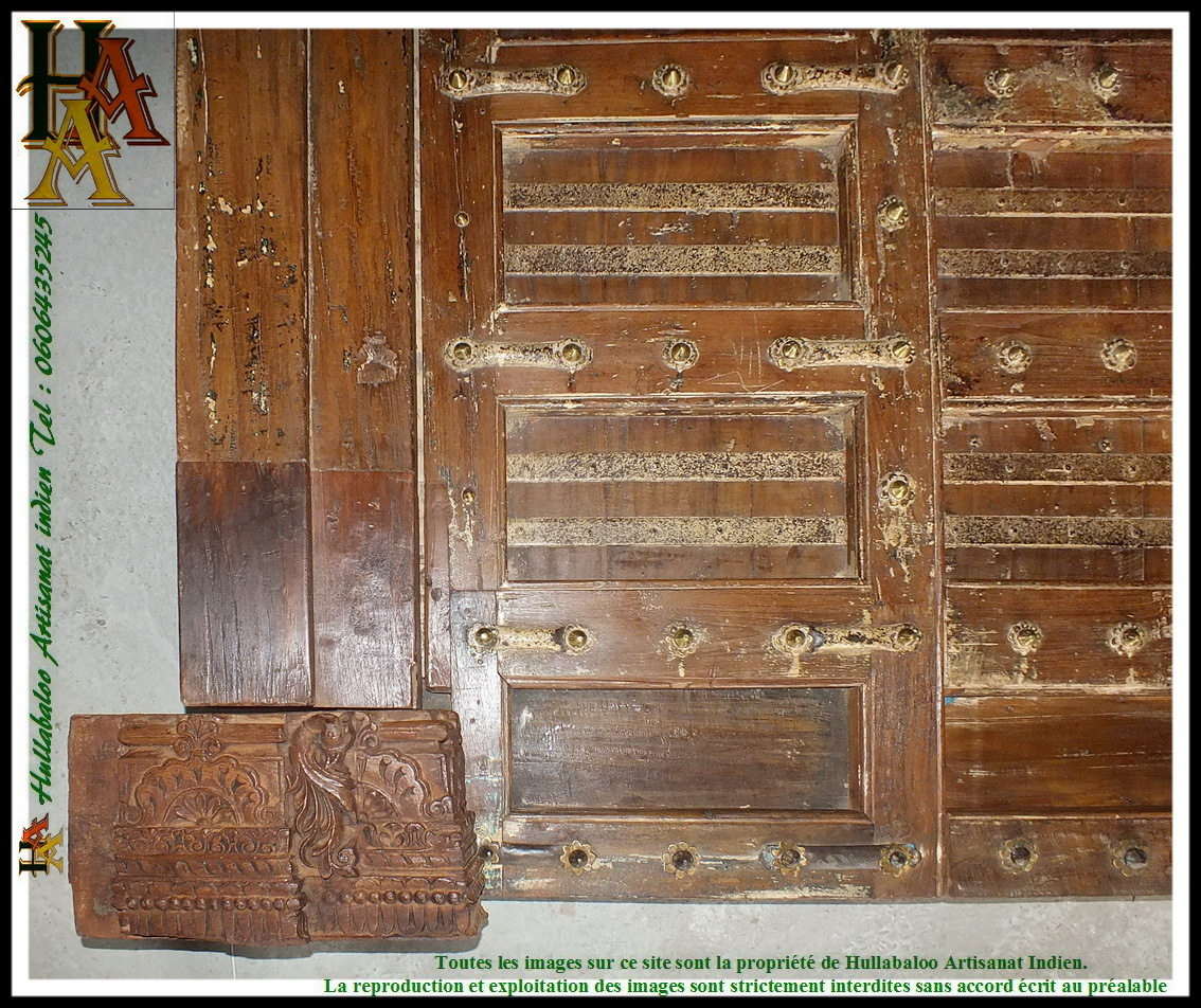 Porte indienne ancienne jn7 la178 meubles indiens d co for Decoration porte ancienne