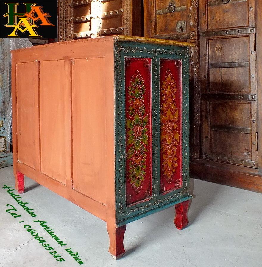 Commode Bois Peinte Avec Peinture Effet Metal Couleur Zinc Factory