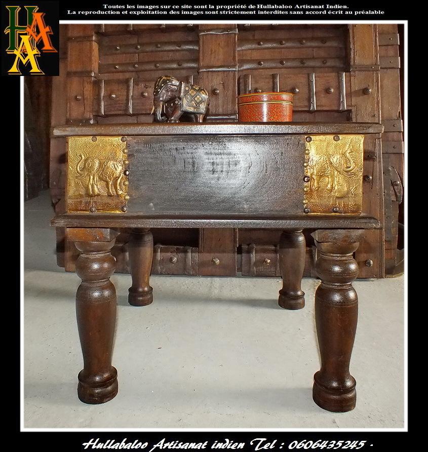 Table basse salon indienne for Decoration table basse de salon