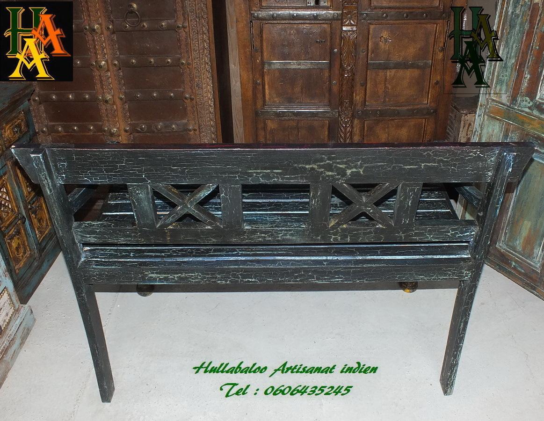 Banc vieux banc indien jn7 la629 meubles indiens banc for Meubles indiens anciens