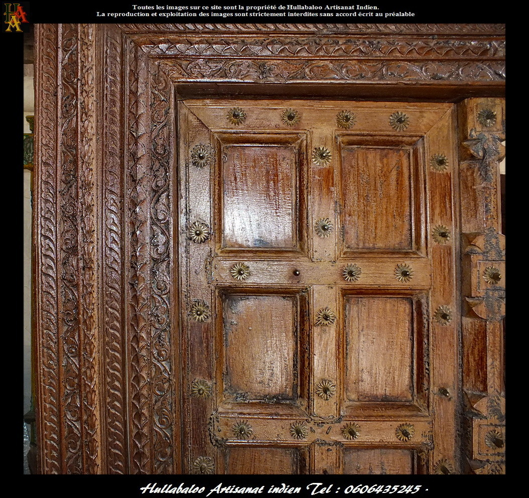 Porte indienne ancienne jn7 la636 meubles indiens d coration for Decoration porte indienne