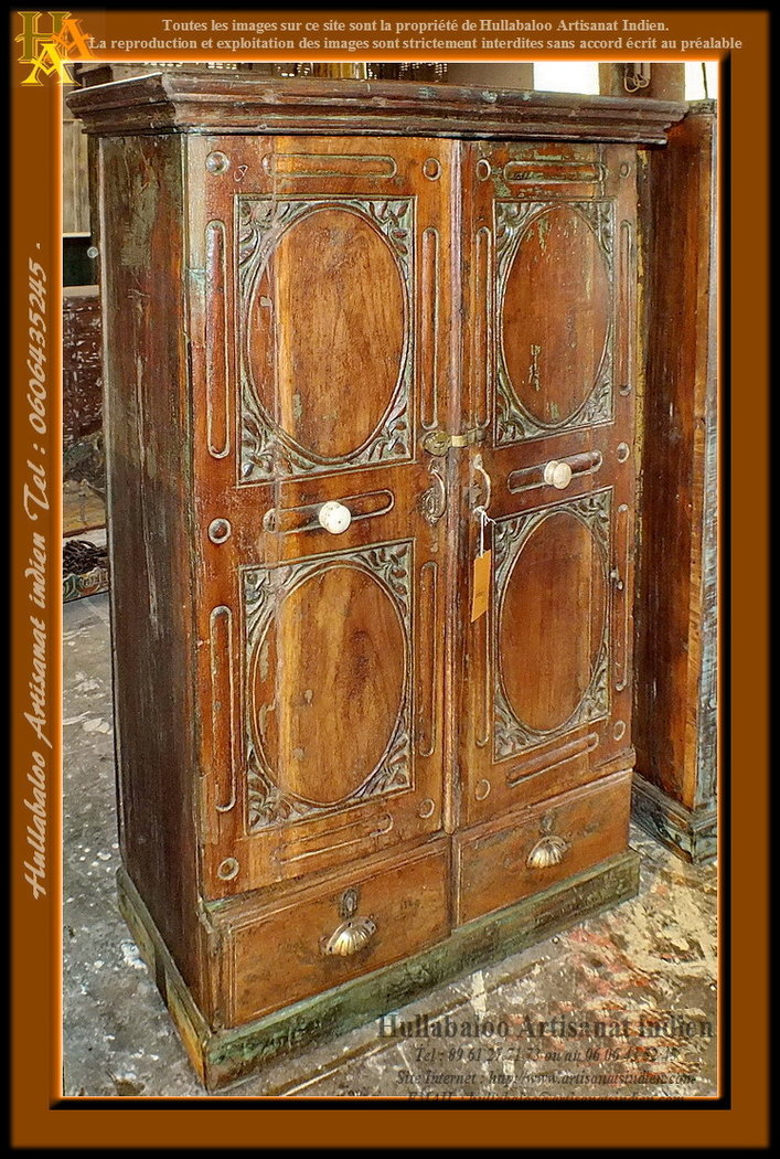 armoire ancienne indienne jn7 la666 anciens meubles indiens. Black Bedroom Furniture Sets. Home Design Ideas
