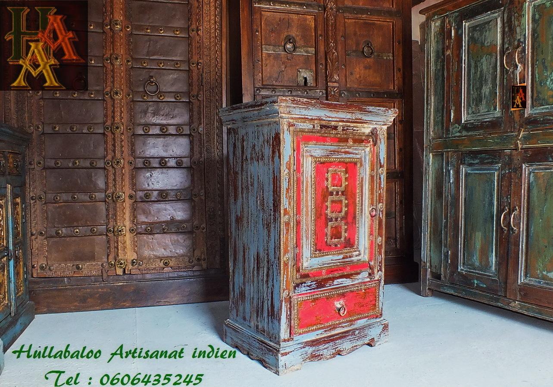 Chevet indien bois massif jn7 la675 meubles indiens - Chevet indien ...