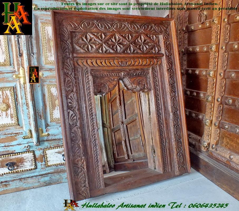 Miroir jharokha jn7 la678 meubles indiens d coration for Meuble indien