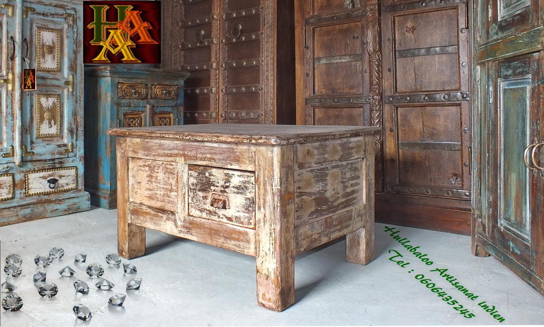 Table ancienne indienne jn7 la689 meubles indiens for Meubles indiens anciens