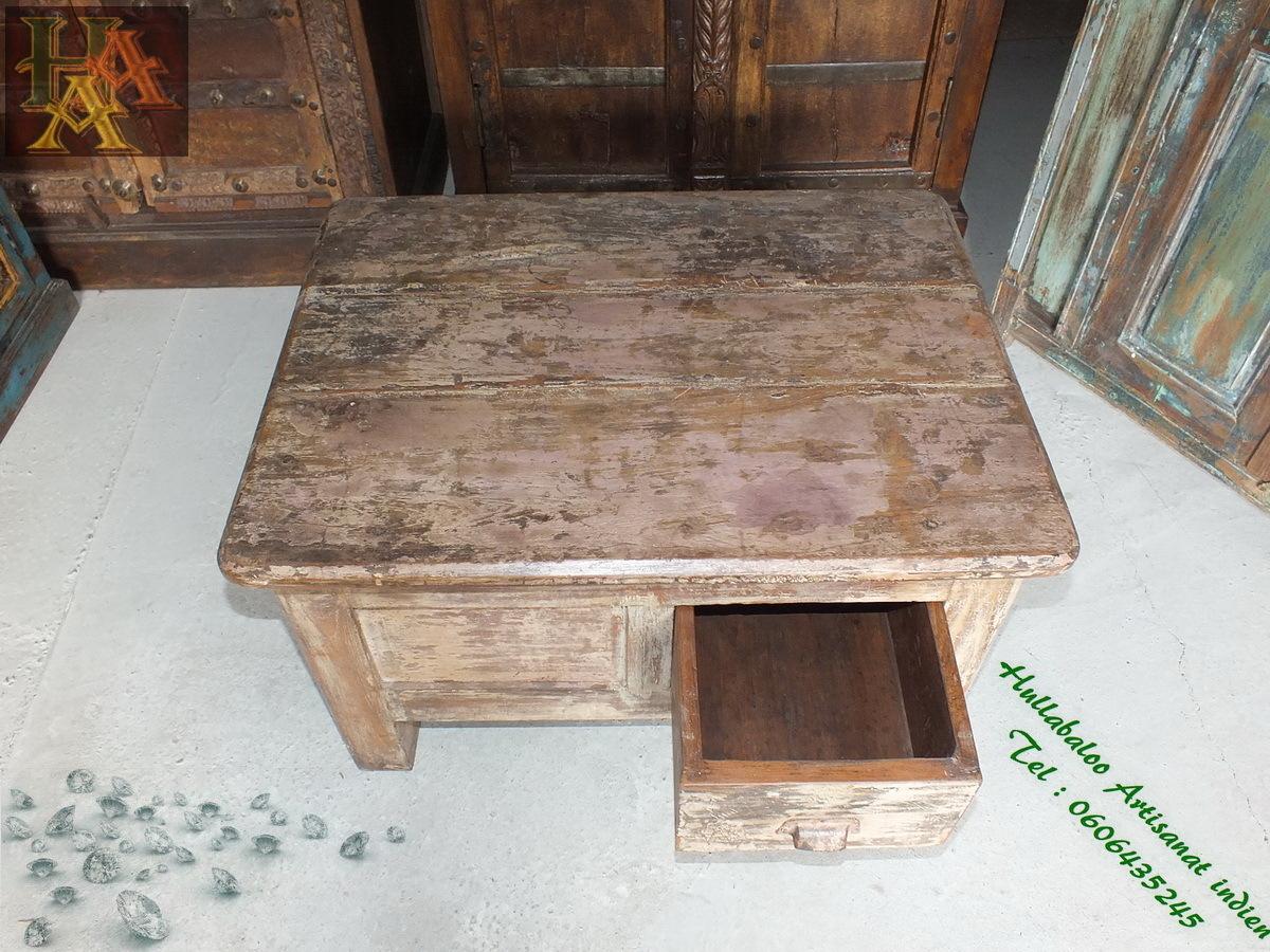 table ancienne indienne jn7 la689 meubles indiens diamantaire. Black Bedroom Furniture Sets. Home Design Ideas