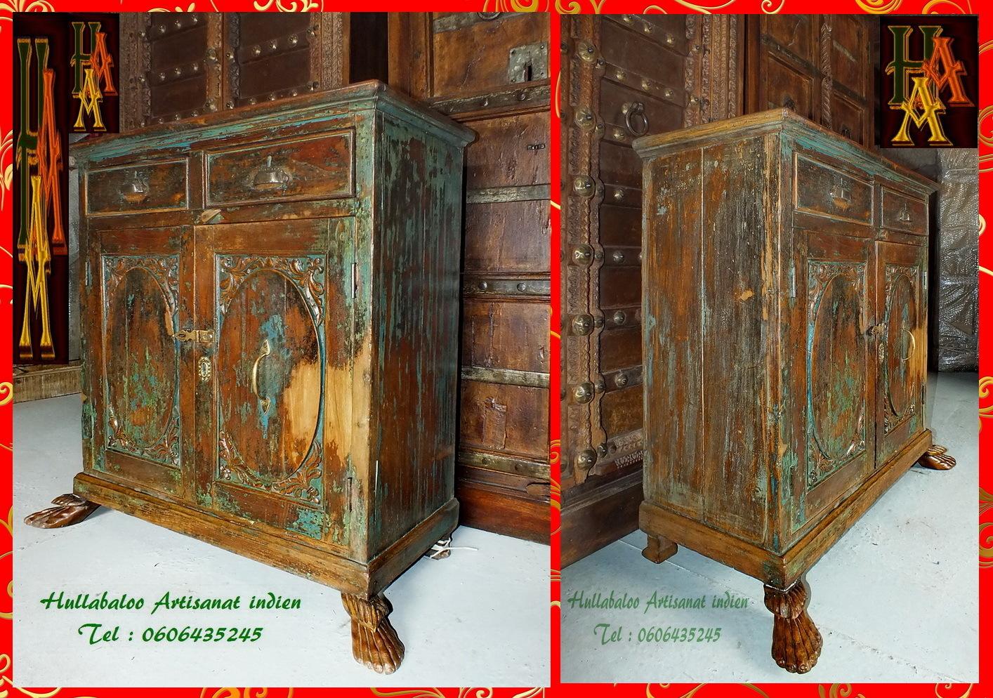 Meuble ancien teck jn7 la696 meubles indiens artisanat for Meubles indiens anciens