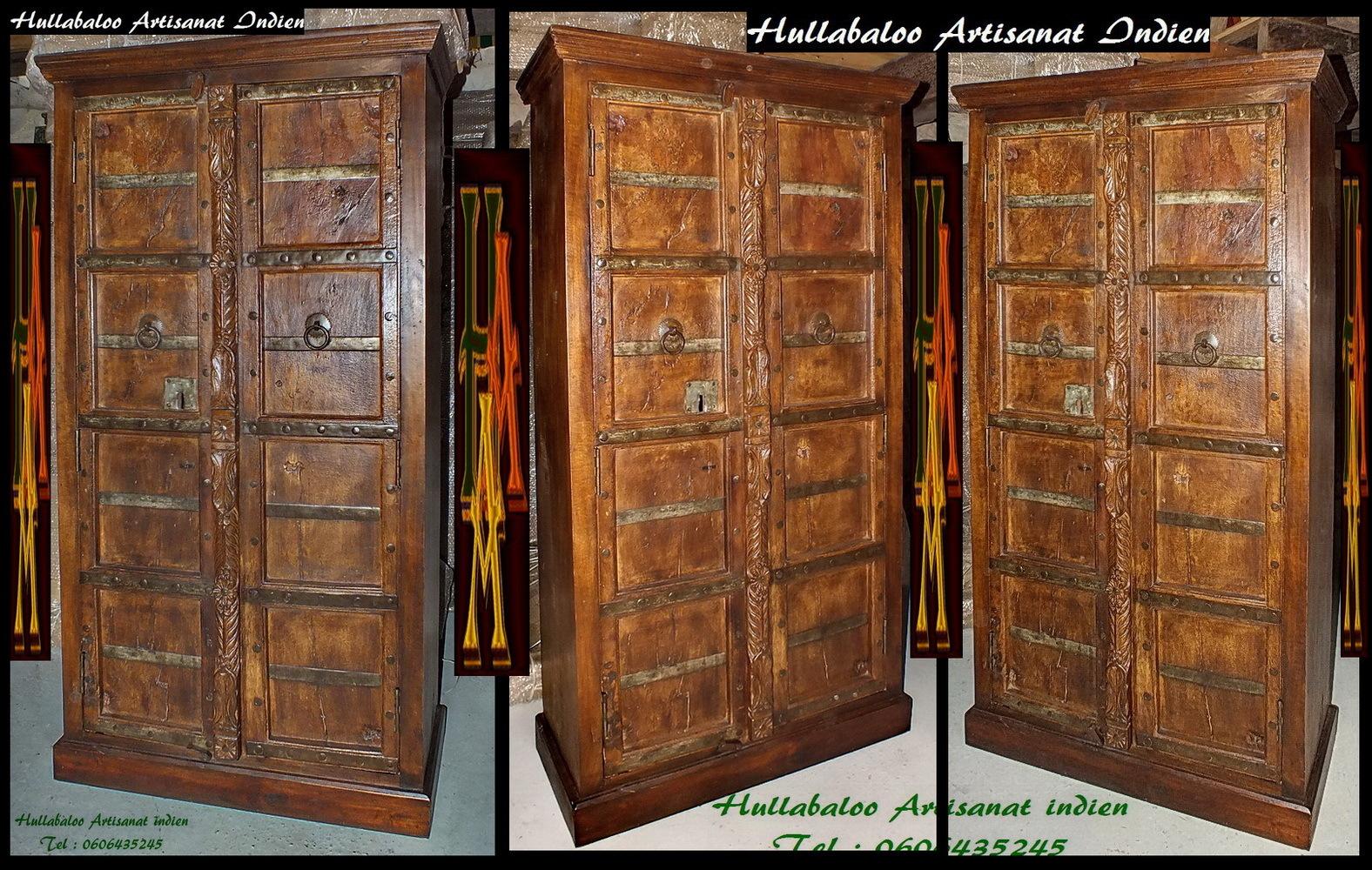 Armoire vieilles portes jn7 la704 meubles indiens porte for Meubles indiens