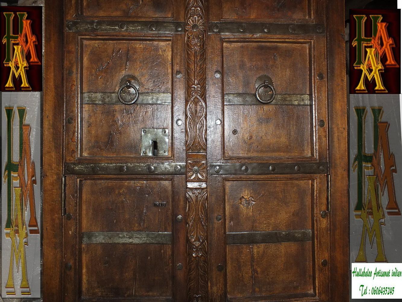 Armoire vieilles portes jn7 la704 meubles indiens porte for Meubles indiens anciens