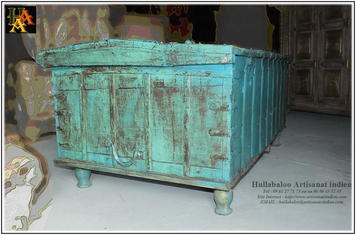 Coffre indien jn8 la020 meubles indiens for Meuble indien