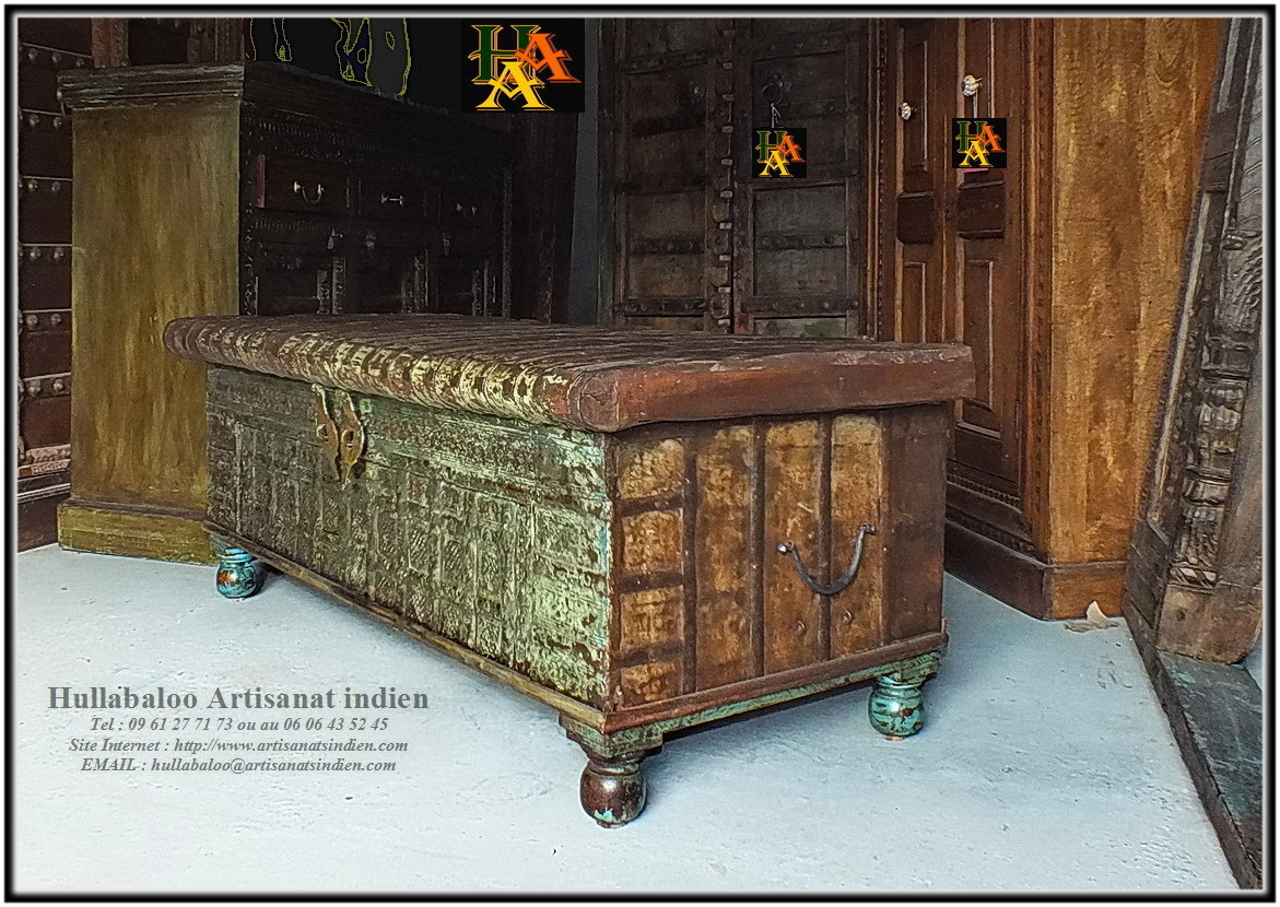 meubles indiens anciens banc indien ancien jn10 sgh011 meubles indiens artisanat vieux. Black Bedroom Furniture Sets. Home Design Ideas