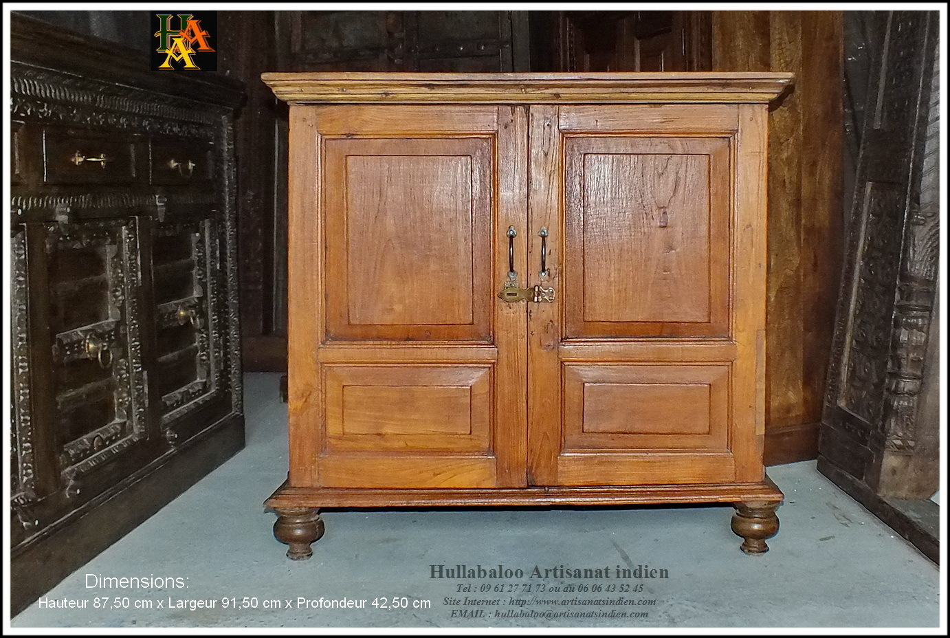 armoire ancienne indienne jn8 la027 meubles indiens d co inde. Black Bedroom Furniture Sets. Home Design Ideas