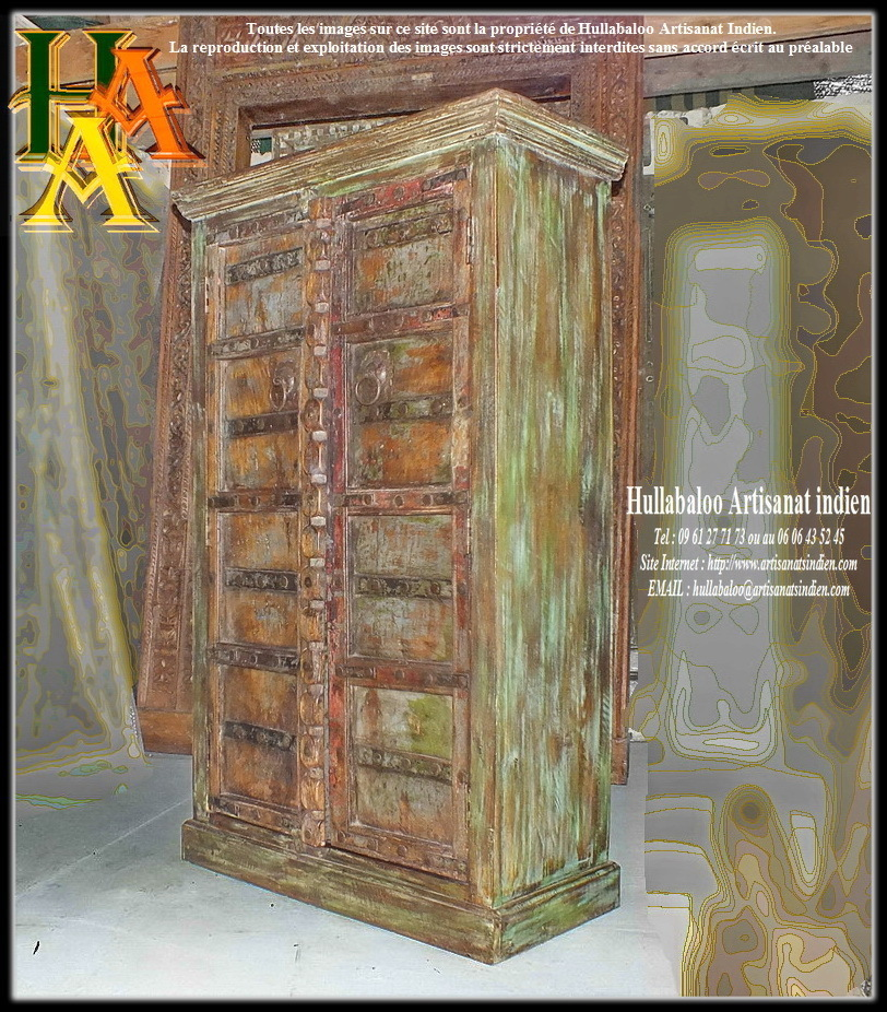 armoire indienne portes anciennes jn8 la032 meubles indiens. Black Bedroom Furniture Sets. Home Design Ideas