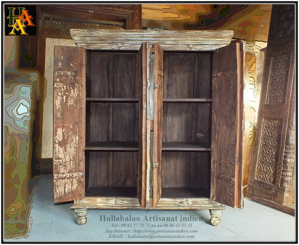armoire indienne vieilles portes jn8 la044 meubles indiens. Black Bedroom Furniture Sets. Home Design Ideas