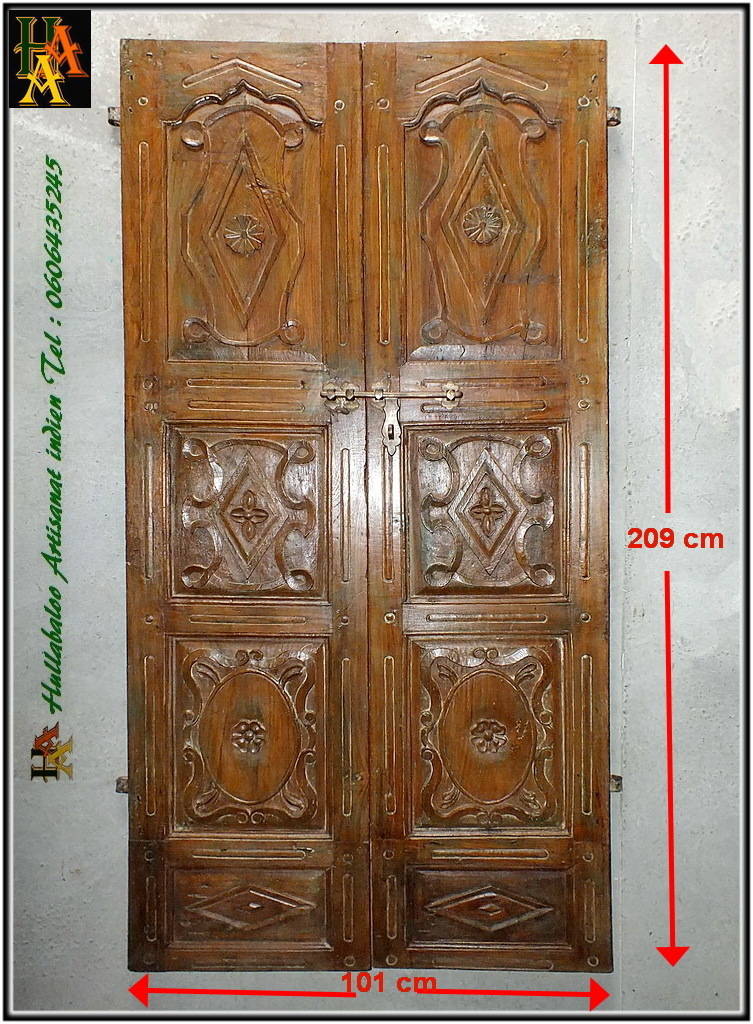 Porte indienne ancienne jn8 la113 meubles indiens d coration for Decoration porte indienne