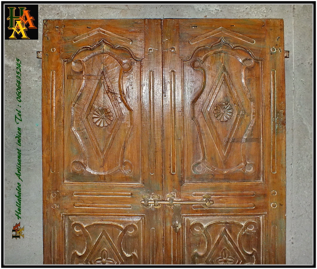 Porte indienne ancienne jn8 la113 meubles indiens d coration for Decoration porte ancienne