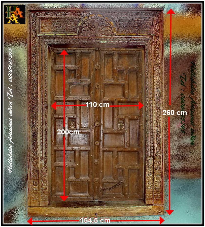 Porte indienne ancienne jn8 la118 meubles indiens d coration for Decoration porte indienne