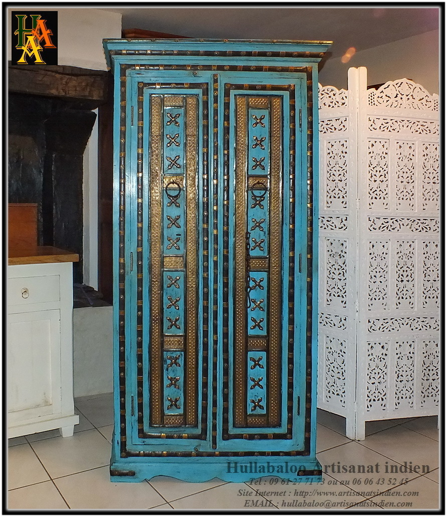 excellent armoire bois massif manguier u laiton jnla with armoire manguier. Black Bedroom Furniture Sets. Home Design Ideas