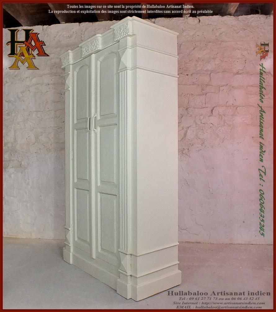 Armoire indienne ranakpur jn9 ca7 meuble indien for Artisan du meuble
