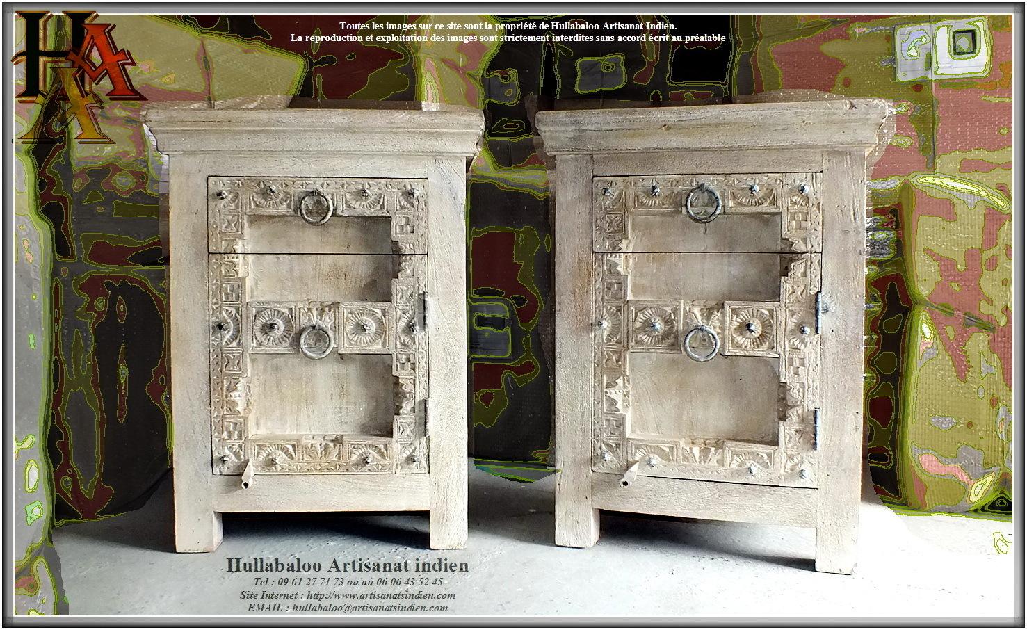 Chevets indiens style ancien jn9 ca11 meubles indiens - Chevet indien ...