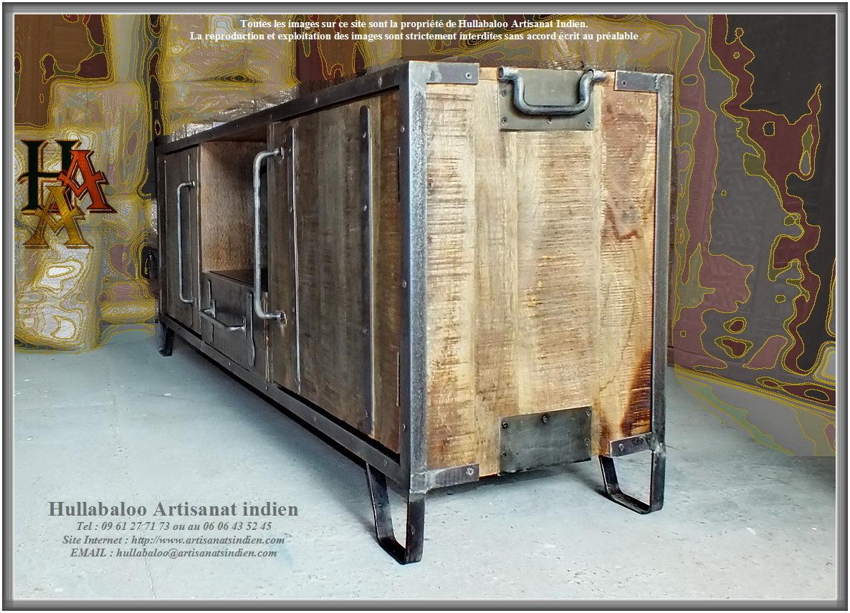 Meuble bas jn9 ca13 meubles indiens d coration indienne - Meuble bas bois massif ...
