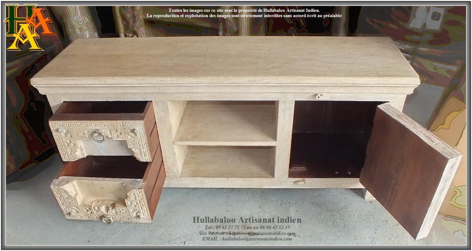 meuble bas indien jn9 ca15 meubles indiens artisanat indien. Black Bedroom Furniture Sets. Home Design Ideas