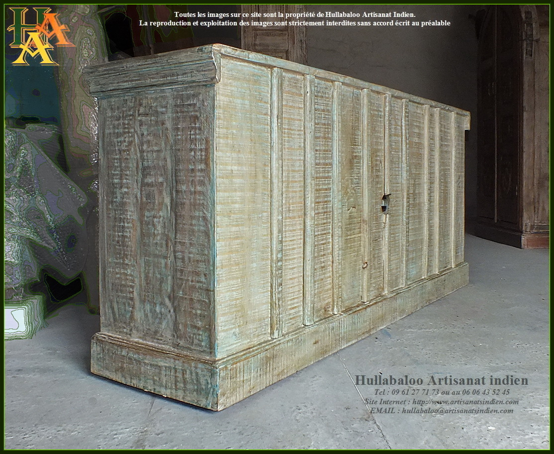 Meuble bas style vieilles portes jn9 ca21 meubles indiens for Meubles indiens
