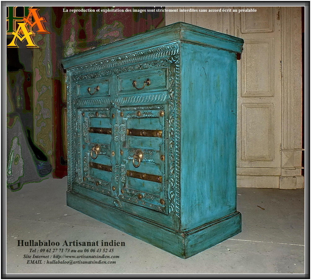 buffet portes sculpt es jn9 ca24 meubles indiens artisanat inde. Black Bedroom Furniture Sets. Home Design Ideas