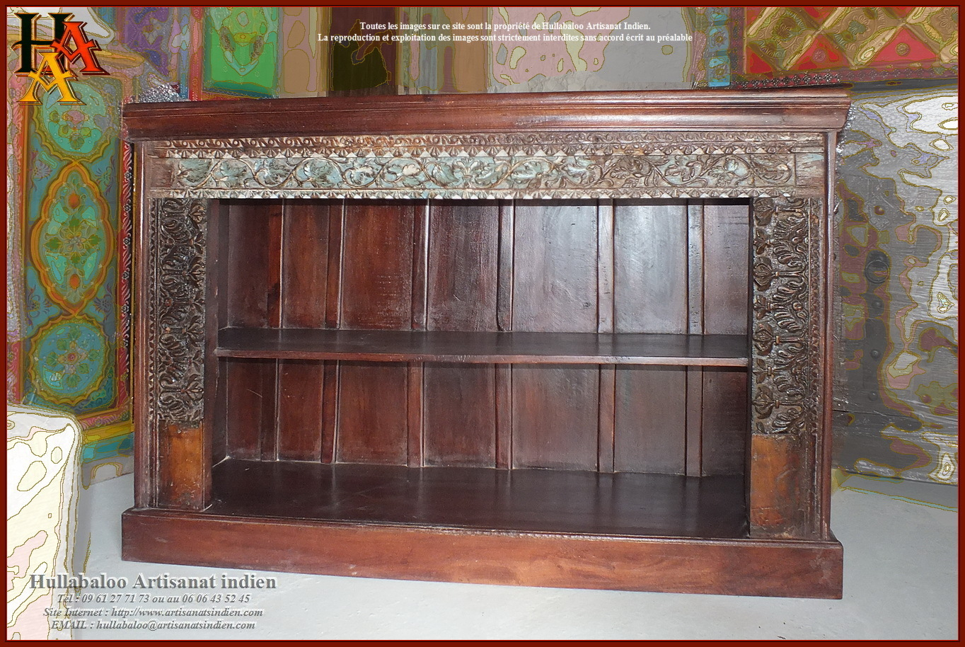 biblioth que indienne jn9 ca26 meubles indiens artisanat indien. Black Bedroom Furniture Sets. Home Design Ideas