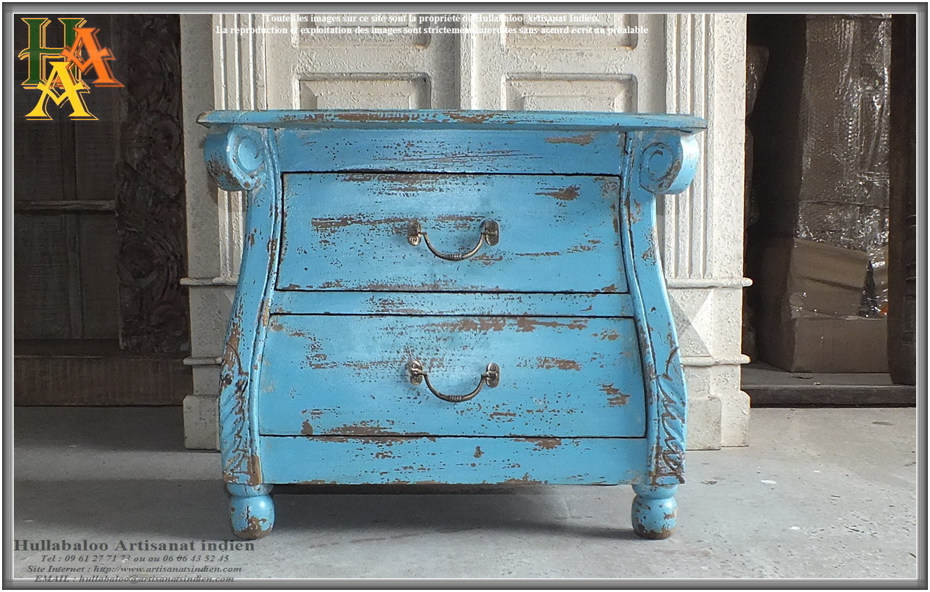 meuble indien 2 tiroirs jn9 ca28a meubles indiens artisanat. Black Bedroom Furniture Sets. Home Design Ideas
