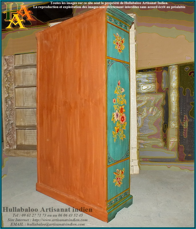 armoire indienne jn9 lajt03 meubles indiens artisanat d 39 asie. Black Bedroom Furniture Sets. Home Design Ideas