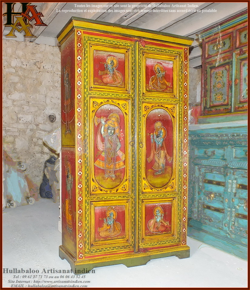 armoire indienne jn9 lajt04 meubles indiens artisanat indien. Black Bedroom Furniture Sets. Home Design Ideas