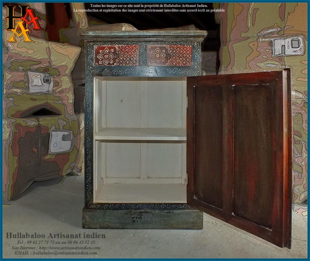Meuble de rangement peint jn9 lajt09 meubles indiens for Meubles indiens