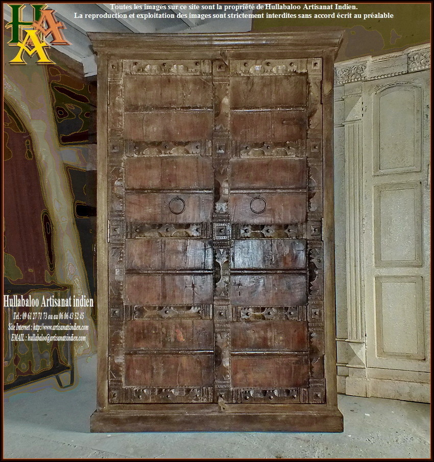 armoire vieilles portes jn9 lajt10 meubles indiens artisanat. Black Bedroom Furniture Sets. Home Design Ideas