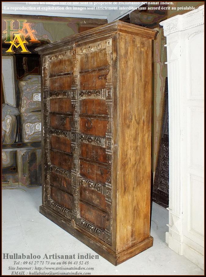 Armoire vieilles portes jn9 lajt10 meubles indiens for Decoration vieille porte