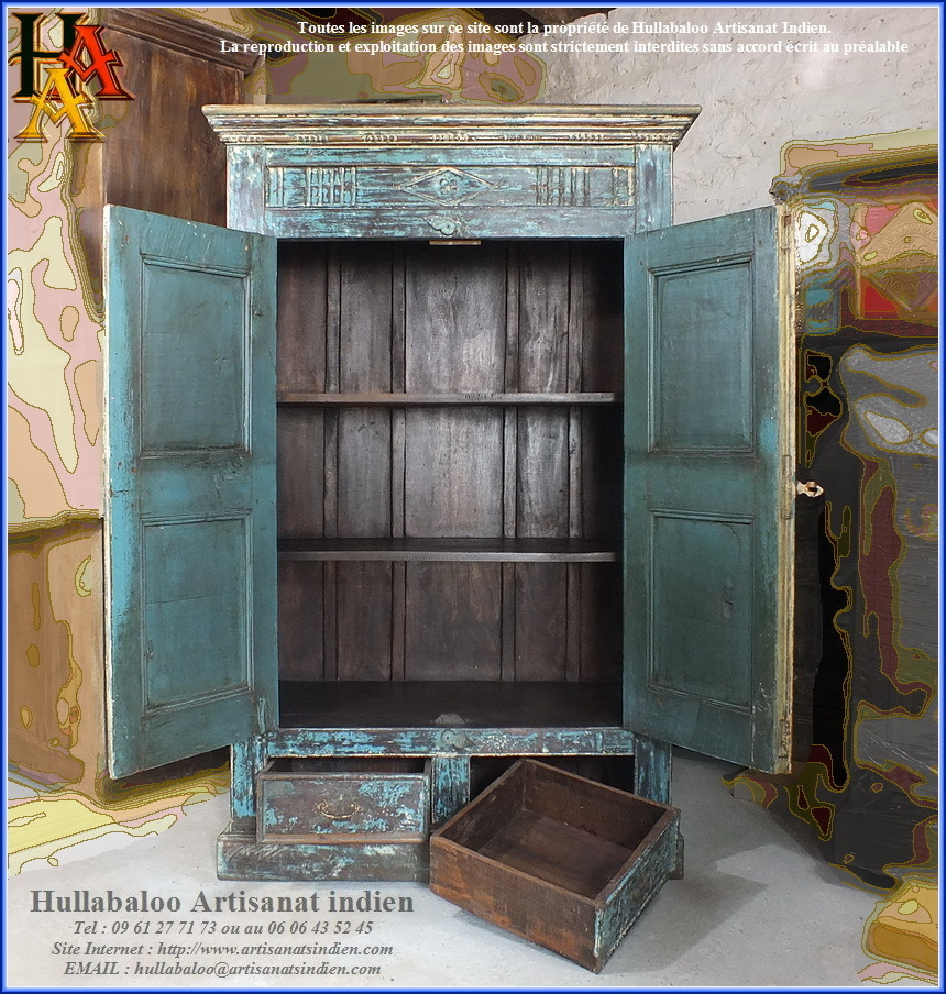 armoire indienne ancienne jn9 lajt12 meubles indiens artisanat. Black Bedroom Furniture Sets. Home Design Ideas