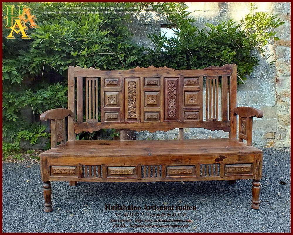 Banc En Pierre Ancien avec banc indien ancien restauré jn10-sgh01,meubles indiens, artisanat