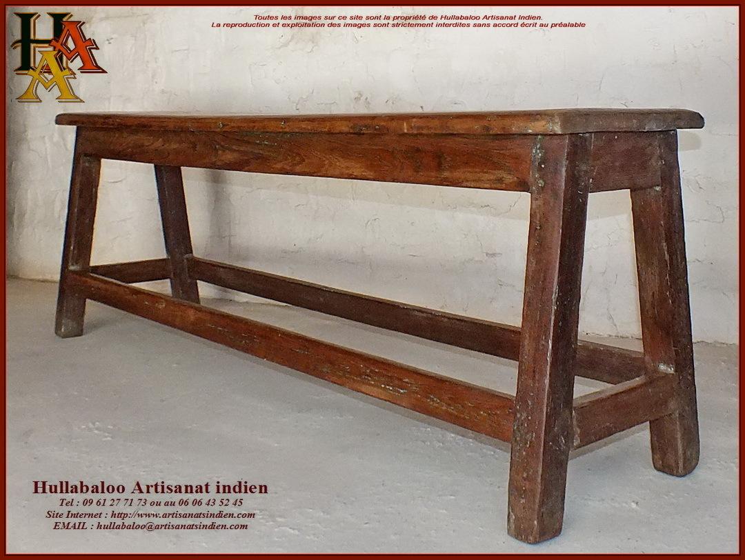 Banc indien ancien jn10 sgh011 meubles indiens artisanat for Meubles indiens anciens