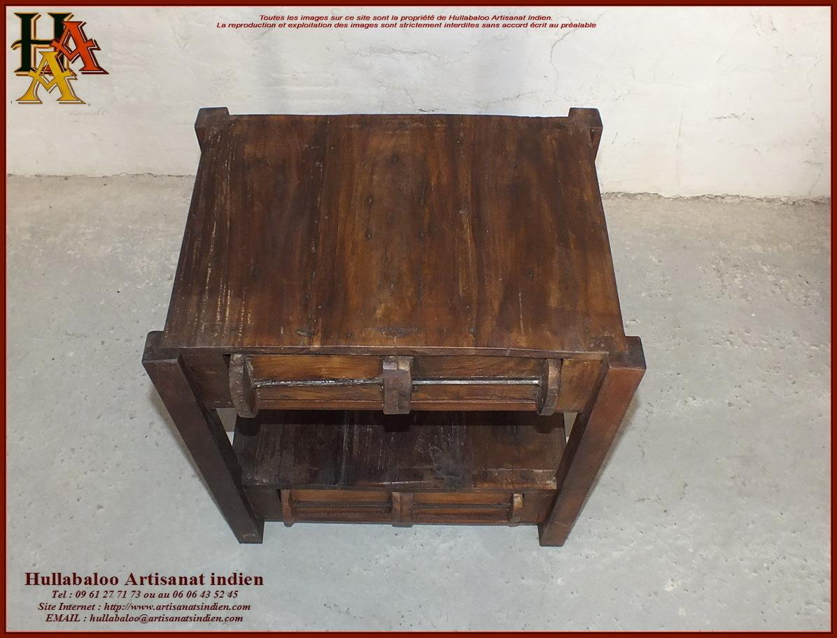 Table de chevet jn10 sgh18 meubles indiens artisanat d 39 asie - Chevet indien ...