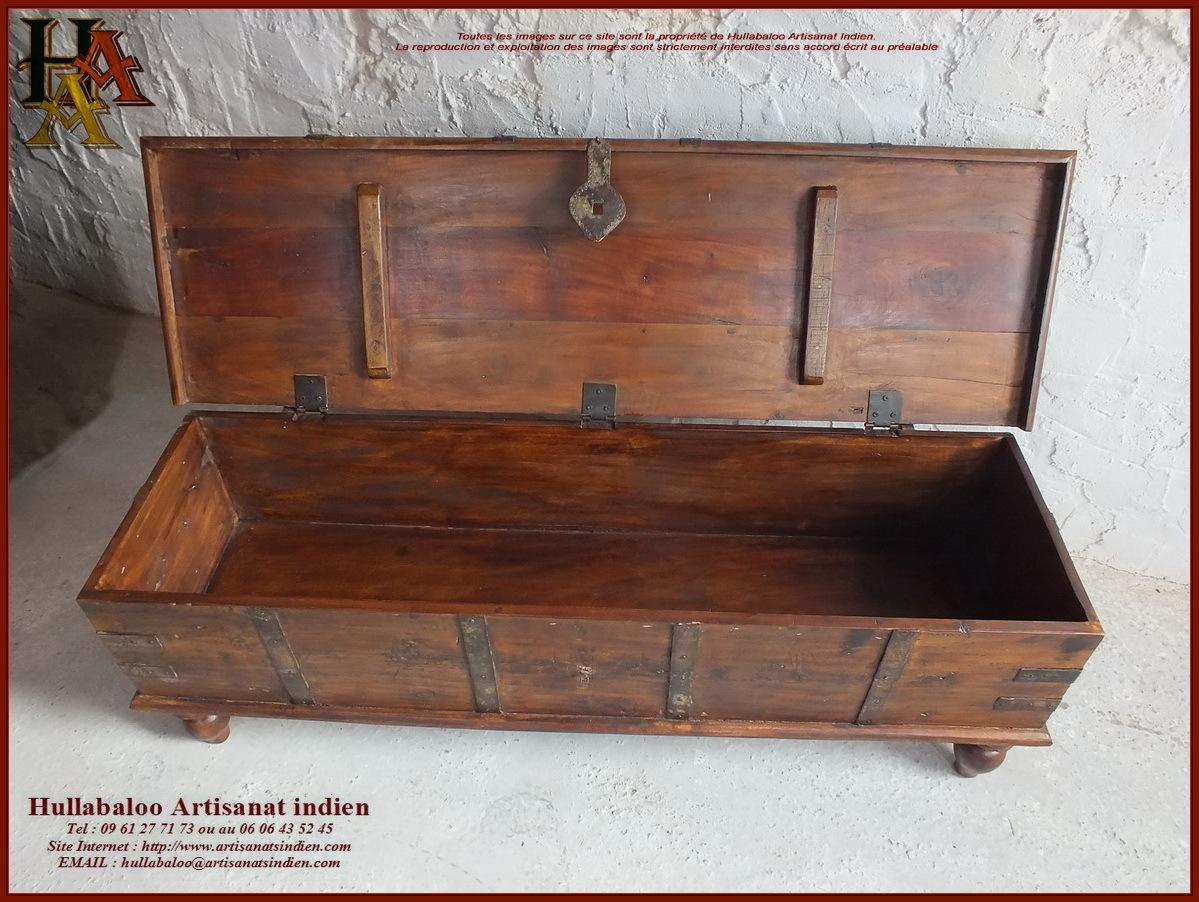 coffre indien en bois massif jn10 sgh23 meubles indiens inde. Black Bedroom Furniture Sets. Home Design Ideas