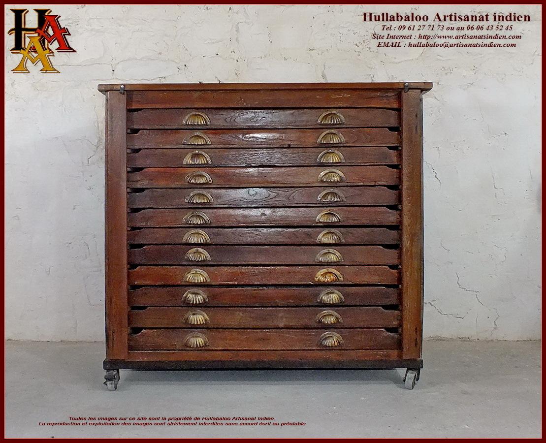 Meuble de rangement de m tier jn10 sgh26 meubles indiens for Meuble indien