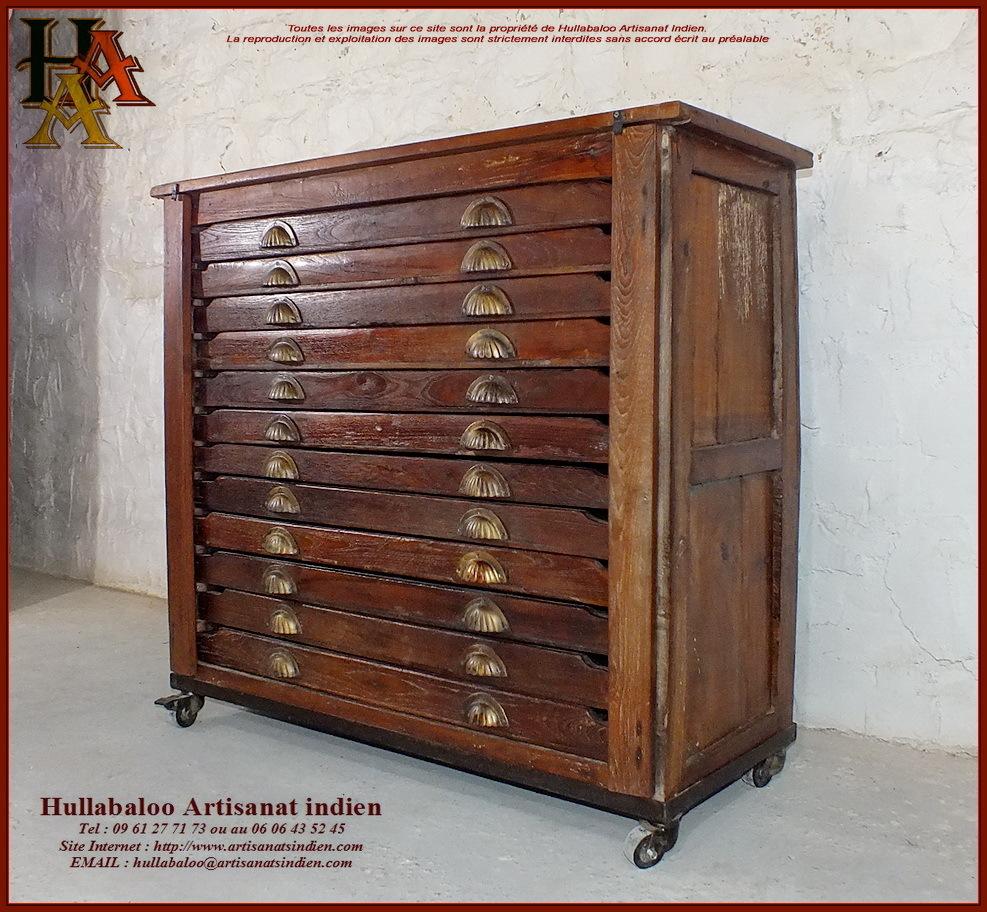 Meuble de rangement de m tier jn10 sgh26 meubles indiens inde - Meuble de metier ...