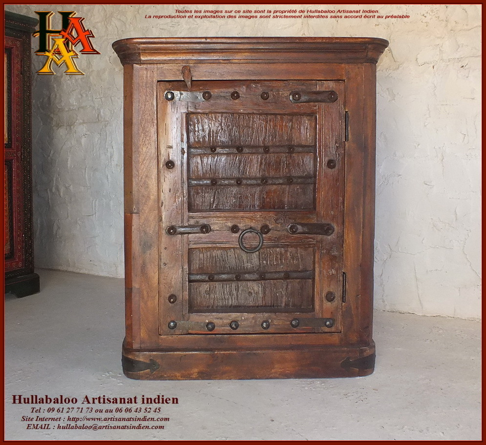 Buffet indien porte ancienne jn10 sgh41 meubles indiens for Decoration porte ancienne