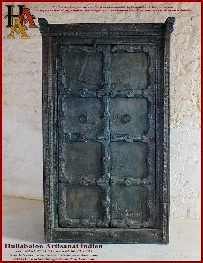 Armoire indienne portes anciennes jn10 sgh44 meubles indiens for Armoire ancienne 2 portes